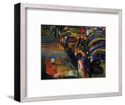 Painting with Houses, 1909-Wassily Kandinsky-Framed Art Print