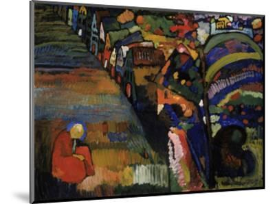 Painting with Houses, 1909-Wassily Kandinsky-Mounted Art Print