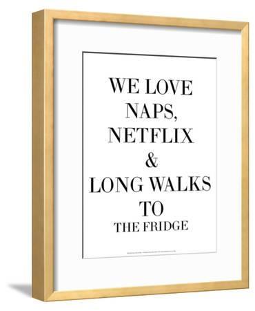 We Love Naps…-Retrospect Group-Framed Art Print
