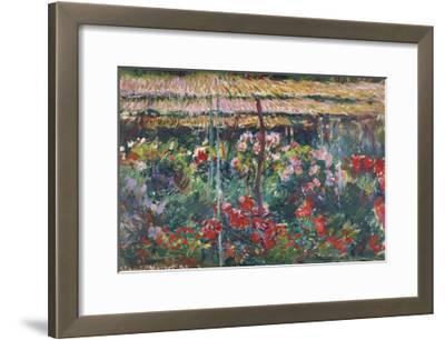 Peony Garden, 1887-Claude Monet-Framed Premium Giclee Print