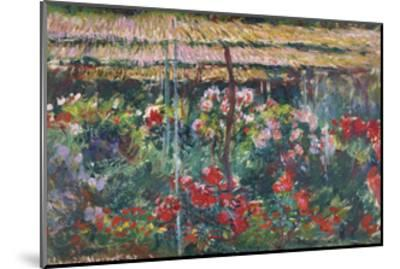 Peony Garden, 1887-Claude Monet-Mounted Premium Giclee Print