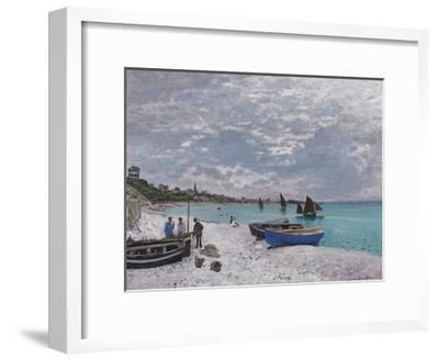 The Beach at Sainte-Adresse, 1867-Claude Monet-Framed Premium Giclee Print