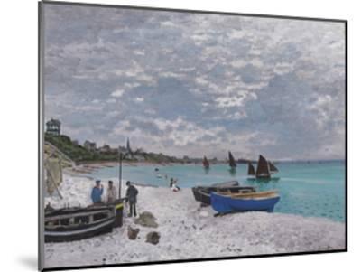 The Beach at Sainte-Adresse, 1867-Claude Monet-Mounted Premium Giclee Print