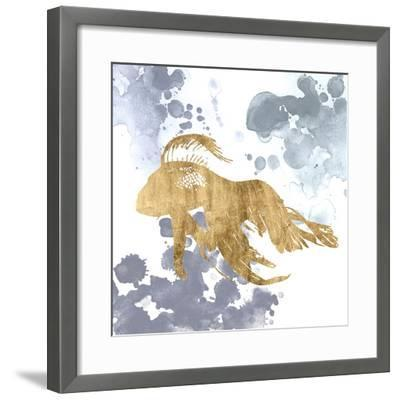 Gilded Splash VII-Grace Popp-Framed Art Print