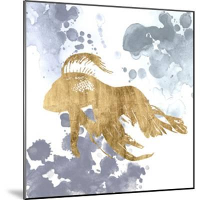 Gilded Splash VII-Grace Popp-Mounted Art Print