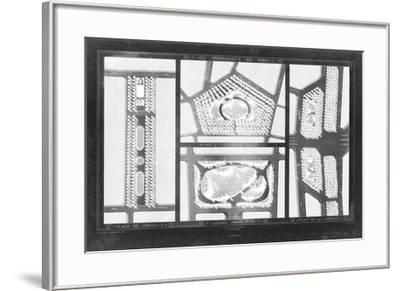 French Garden Blueprint III-Unknown-Framed Giclee Print