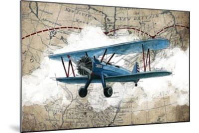Biplane 1-GraphINC Studio-Mounted Art Print