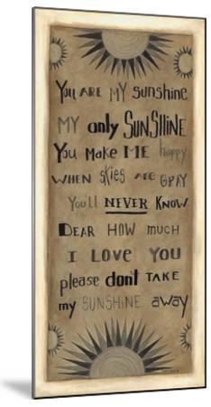My Only Sunshine-Cindy Shamp-Mounted Art Print