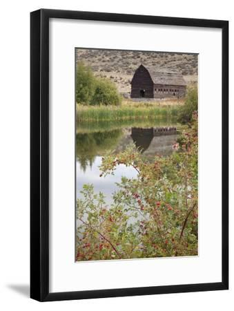 Barn and Pond-Donald Paulson-Framed Giclee Print