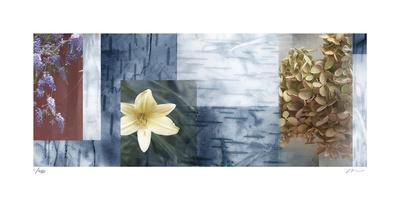 Blue Mosaic II-Michelle Joyce-Mounted Limited Edition