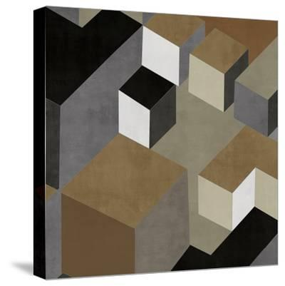 Cubic in Neutral II-Todd Simmions-Stretched Canvas Print