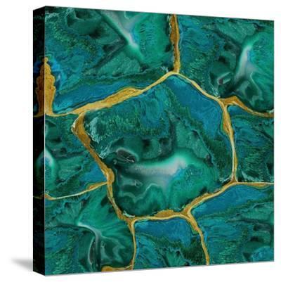 Malachite Accent-Danielle Carson-Stretched Canvas Print