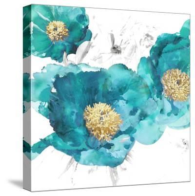 Aqua Trio I-Vanessa Austin-Stretched Canvas Print