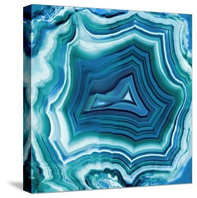Agate in Aqua-Danielle Carson-Stretched Canvas Print
