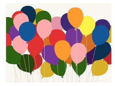 Balloons-Jorey Hurley-Framed Art Print