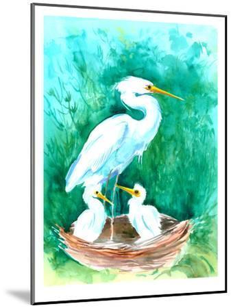 Heron-Suren Nersisyan-Mounted Art Print