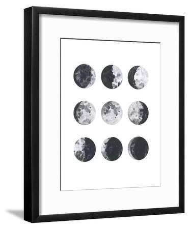 Moon Phases Watercolor I-Samantha Ranlet-Framed Art Print