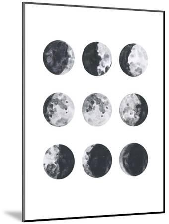 Moon Phases Watercolor I-Samantha Ranlet-Mounted Art Print