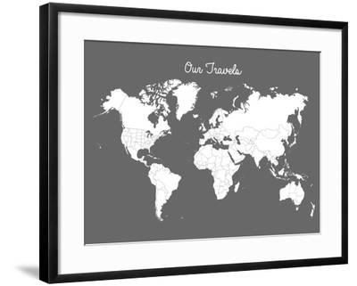 Our Travels Steel-Samantha Ranlet-Framed Art Print