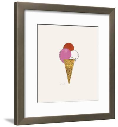 Ice Cream Dessert, c. 1959 (red, pink, and white)-Andy Warhol-Framed Art Print