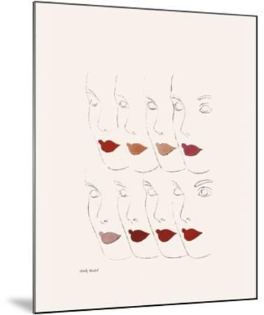 Untitled (Female Faces), c. 1960-Andy Warhol-Mounted Giclee Print