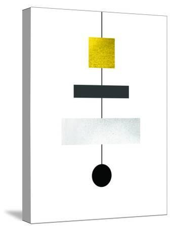 Geometric Art 30-Pop Monica-Stretched Canvas Print