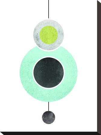 Geometric Art 40-Pop Monica-Stretched Canvas Print