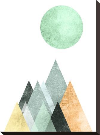 Geometric Art 41-Pop Monica-Stretched Canvas Print