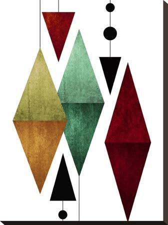 Geometric Art 50-Pop Monica-Stretched Canvas Print