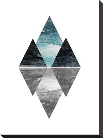 Geometric Art 7-Pop Monica-Stretched Canvas Print