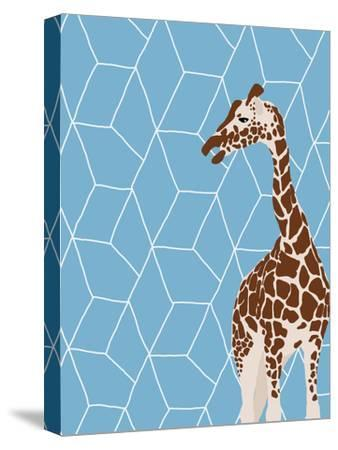 Giraffe-Jorey Hurley-Stretched Canvas Print
