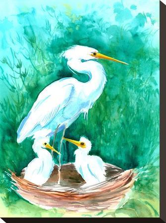 Heron-Suren Nersisyan-Stretched Canvas Print
