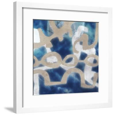 Indigo Tribal II-Jennifer Goldberger-Framed Art Print