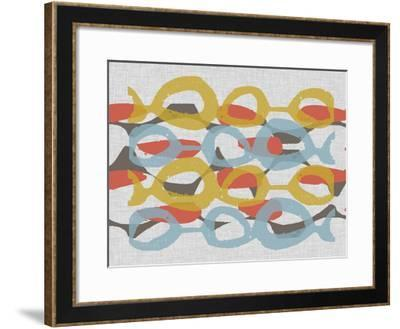 Mid Century Pattern I-Jennifer Goldberger-Framed Art Print
