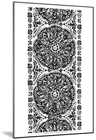B&W Arabesque Panels III-Chariklia Zarris-Mounted Art Print