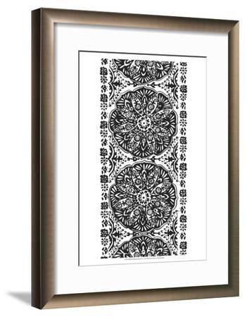 B&W Arabesque Panels III-Chariklia Zarris-Framed Art Print