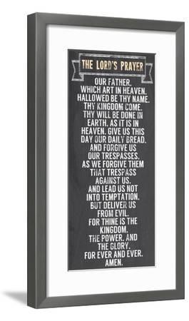 The Lord's Prayer - Chalkboard Style-Veruca Salt-Framed Art Print