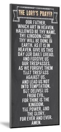 The Lord's Prayer - Chalkboard Style-Veruca Salt-Mounted Art Print