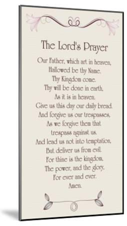 The Lord's Prayer - Floral-Veruca Salt-Mounted Art Print