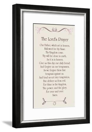 The Lord's Prayer - Floral-Veruca Salt-Framed Art Print
