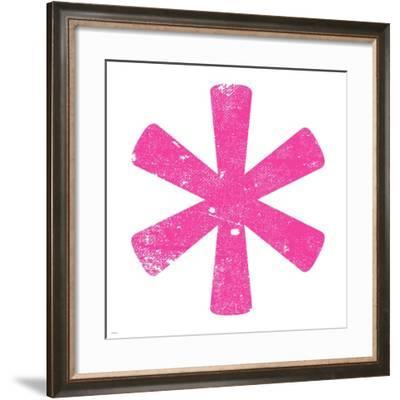 Pink Asterisk-Veruca Salt-Framed Art Print