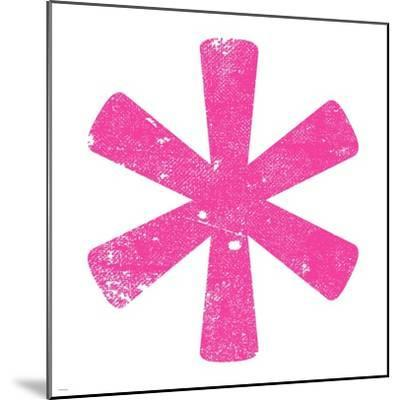 Pink Asterisk-Veruca Salt-Mounted Art Print