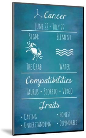 Cancer Zodiac Sign-Veruca Salt-Mounted Art Print