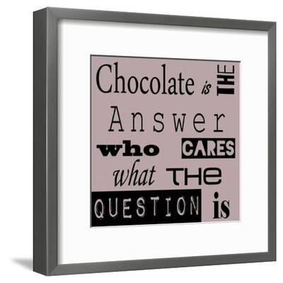 Chocolate is the Answer-Veruca Salt-Framed Art Print