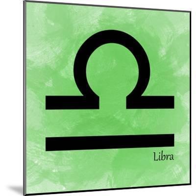 Libra - Green-Veruca Salt-Mounted Art Print