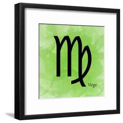 Virgo - Green-Veruca Salt-Framed Art Print