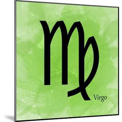 Virgo - Green-Veruca Salt-Mounted Art Print
