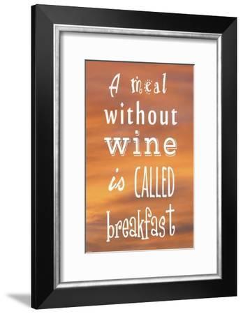 A Meal Without Wine - Orange-Veruca Salt-Framed Art Print