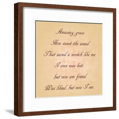 Amazing Grace-Veruca Salt-Framed Art Print