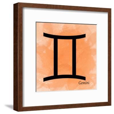Gemini - Orange-Veruca Salt-Framed Art Print